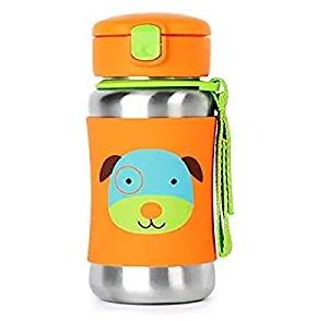 Skip Hop Kids Water Bottle with Straw