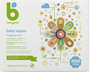 Baby Wipes, Babyganics Unscented Diaper Wipes