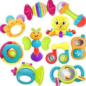 iPlay, iLearn 10pcs Baby Rattle Toys
