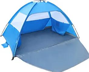 Gorich Beach Tent,UV Sun Shelter Lightweight Beach Sun Shade Canopy