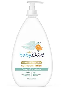 Baby Dove Face and Body Lotion for Sensitive Skin